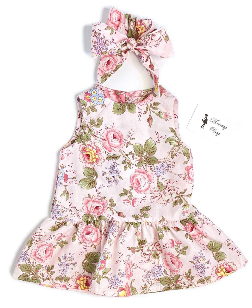 Платье с афробантом RoyalBaby Пионы р.62, 0-6 мес