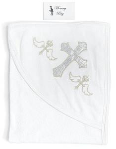 Крыжма-полотенце для крещения RoyalBaby Белая с серебром