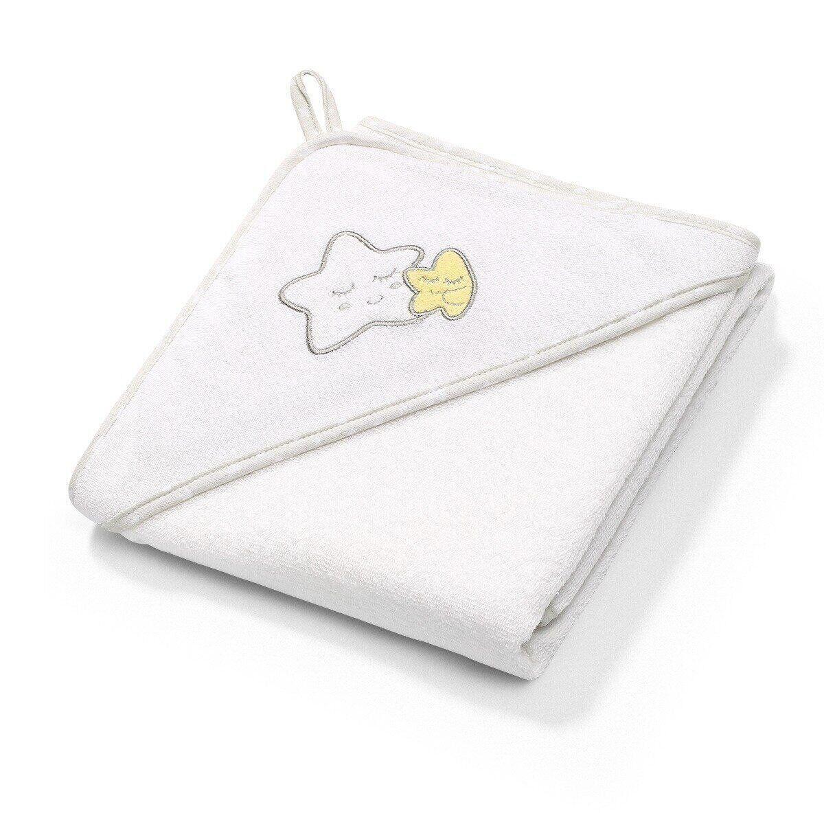 Полотенце махровое с капюшоном BabyOno 76x76 см Звездочки