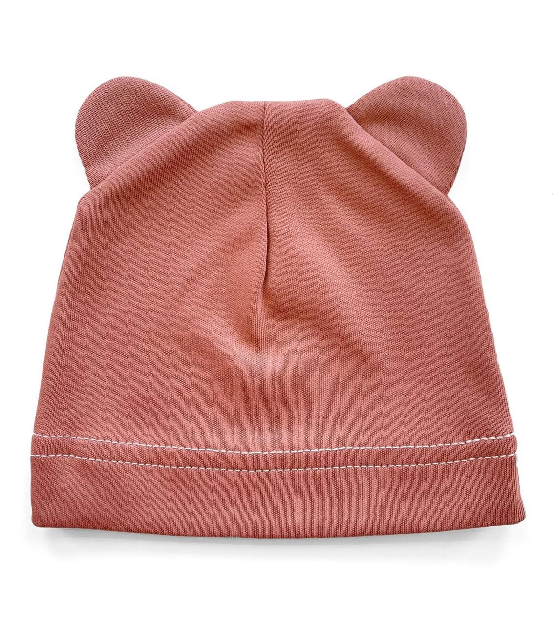 Шапочка Baby Body 0-6 мес Марсаловая с ушками №14