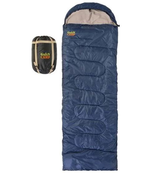 Спальник GreenCamp, одеяло, 450гр/м2, синий