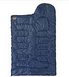 Спальник GreenCamp, одеяло, 450гр/м2, синий, фото 3