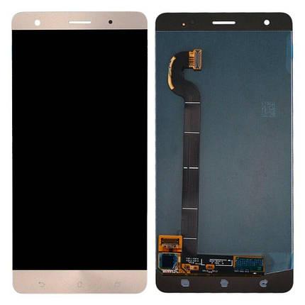 Дисплей (экран) для Asus ZenFone 3 Deluxe (ZS570KL) 5.7 з сенсором (тачскріном) золотистый Оригинал, фото 2