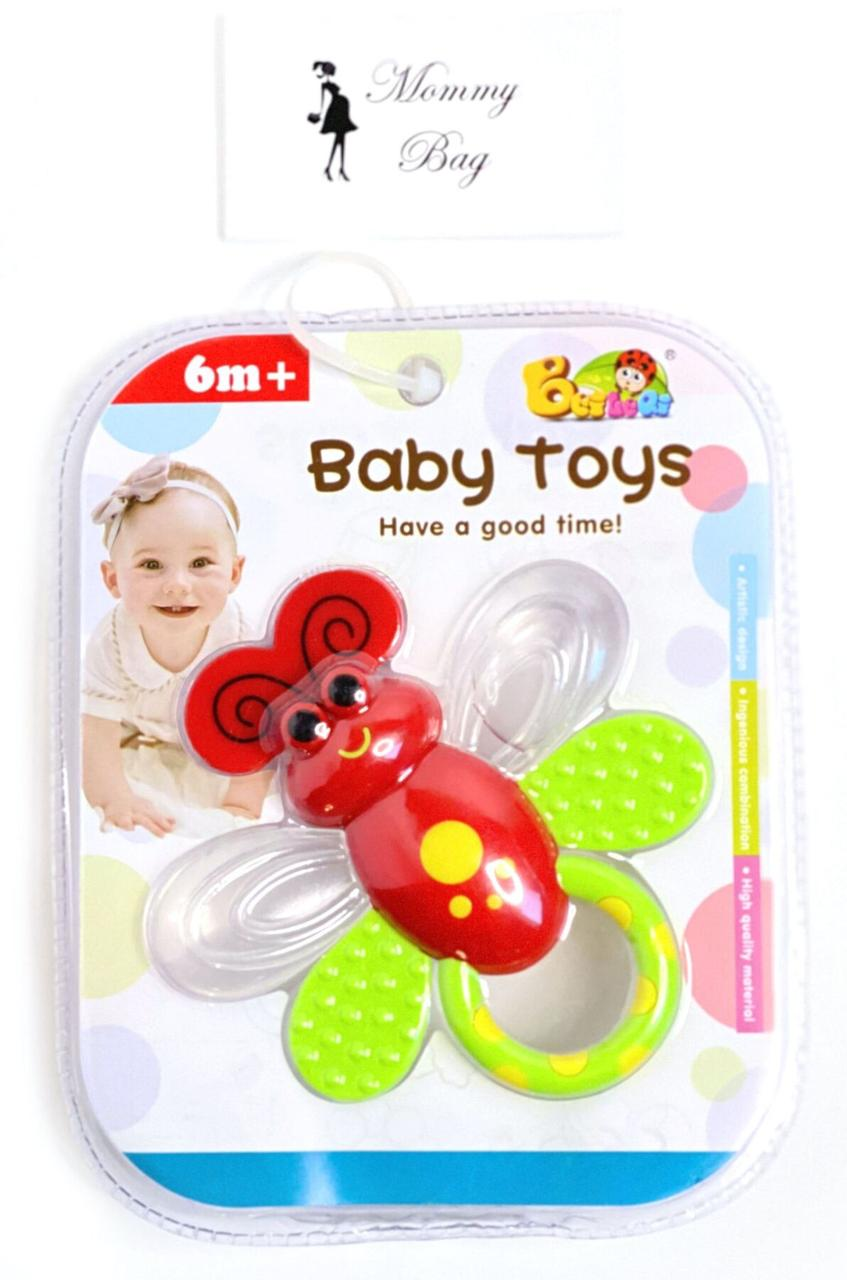 """Погремушка-прорезыватель """"Бабочка"""" с охлаждением Baby Toys"""