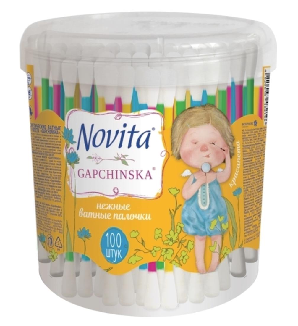 Ватные палочки Novita Gapchinska в круглой банке 100 шт