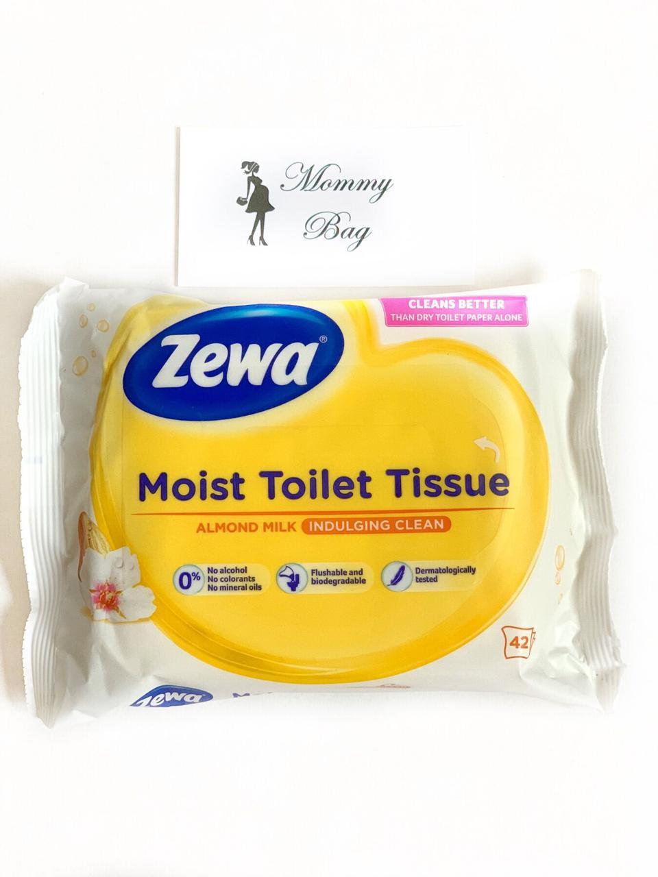 Влажная туалетная бумага Zewa 42 шт