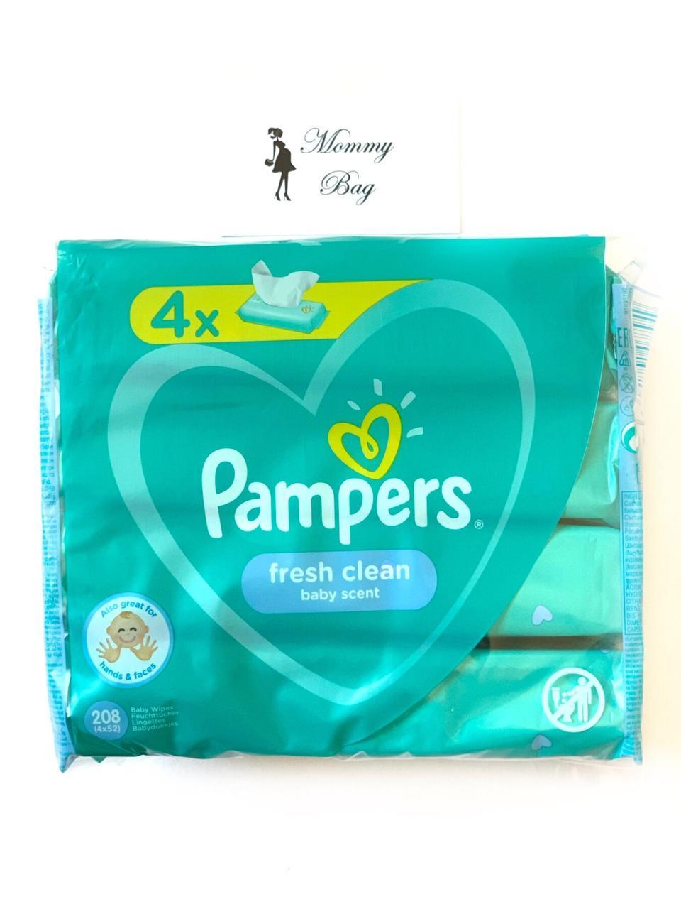 Влажные салфетки Pampers Fresh Clean 208 шт