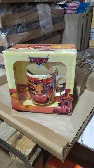 Детская керамическая чашка с ложкой Warm Wishes, ТАЧКИ в подарочной упаковке