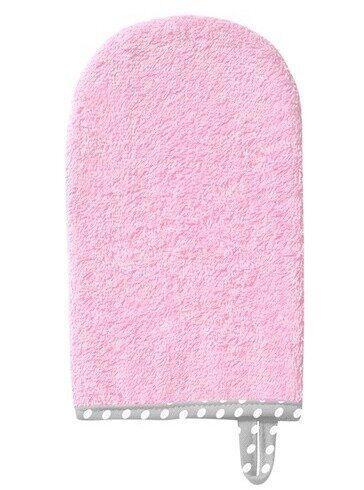 Рукавичка для купания махровая BabyOno, розовая