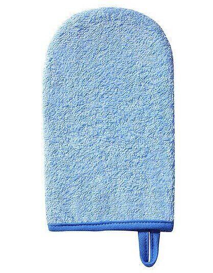 Рукавичка для купания махровая BabyOno, синяя