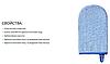 Рукавичка для купания махровая BabyOno, синяя, фото 3