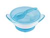 Мисочка-тарелка с присоской и ложечкой BabyOno Синяя, фото 3