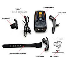 Ліхтар велосипедний BSK-178-1-LM, STOP-5SMD, ЗУ micro USB, вбудований акумулятор, фото 2