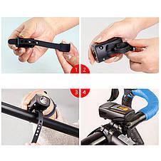 Ліхтар велосипедний BSK-178-1-LM, STOP-5SMD, ЗУ micro USB, вбудований акумулятор, фото 3