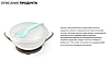 Мисочка-тарелка с присоской и ложечкой BabyOno Серо-бирюзовая, фото 7