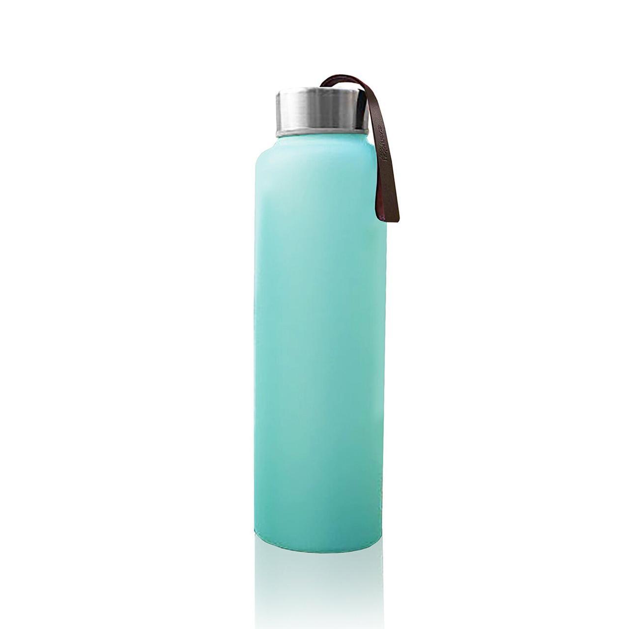 Стеклянная бутылка для воды с силиконовой защитой Everyday Baby 400мл Мятная