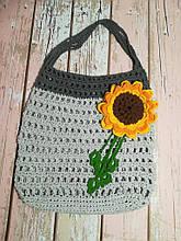Сумка авоська с цветком, эко сумка шоппер, городская сумка для покупок, размер 35*40 см