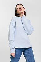 Женский вязаный джемпер с рукавами-буфами светло-голубой Arjen размер One Size (101811-OS)