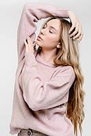 Женский вязаный джемпер с рукавами-буфами розовый Arjen размер One Size (101811-OS)