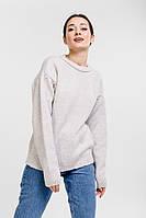 Женский вязаный джемпер с рукавами-буфами светло-фиолетовый Arjen размер One Size (101811-OS)
