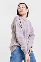 Женский вязаный джемпер с рукавами-буфами фиолетовый Arjen размер One Size (101811-OS)