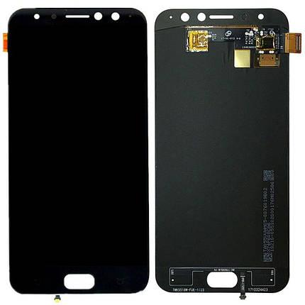 Дисплей (экран) для Asus ZenFone 4 Selfie Pro (ZD552KL) Z01MDA с сенсором (тачскрином) черный, фото 2