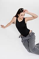 Женское боди без рукавов базовое черного цвета Arjen размер M (26437-BK-M)