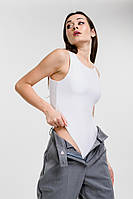 Женское боди без рукавов базовое белого цвета Arjen размер M (26437-W-M)