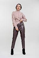 Женский вязаный свитер ажурный розовый Arjen размер One Size (101821-OS)