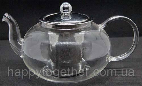 """Чайник стекл с металевим ситом """"Классика"""", 1500 мл,"""