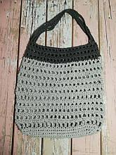 Сумка авоська с цветком, эко сумка шоппер, городская сумка для покупок, размер 35*40 см Без декора