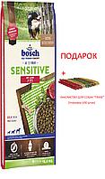 Bosch Sensitive Lamb & Rice 15кг для взрослых собак склонных к аллергии ягненок с рисом