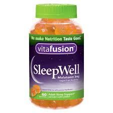 Vitafusion Sleep Well с мелатонином ромашкой мелиссой и пассифлорой без сахара 3 мг в 2 шт 60 жевательных конф