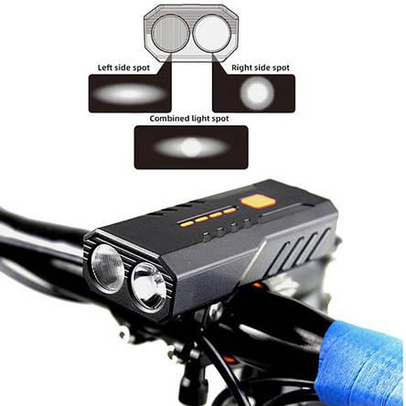Велофонарь BC25Pro-2XPE ULTRA LIGHT, фото 2