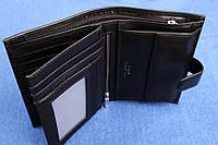 Вертикальное кожаное портмоне чёрное  VE-023-14, фото 1