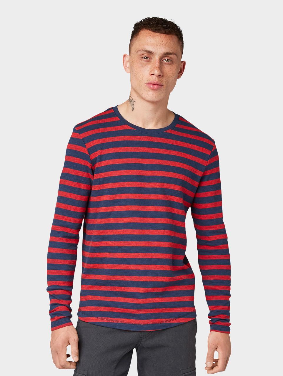 Лонгслив Tom Tailor 1013303 XXL Синий с красным