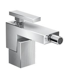 Змішувач Axor Edge для біде з push-open Diamond Cut Chrome 46211000