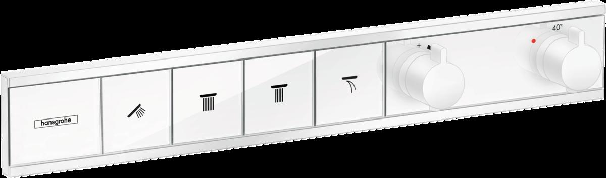 Термостат прихованого монтажу RainSelect на 4 клавіші Matt White (15382700)