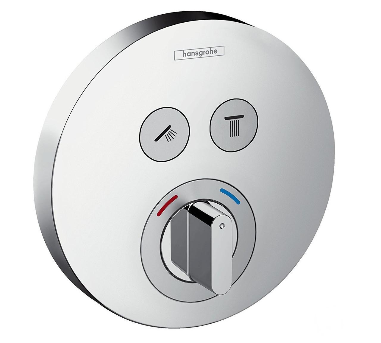 Змішувач прихованого монтажу ShowerSelect S на 2 клавіші, верхня частина (15748000)