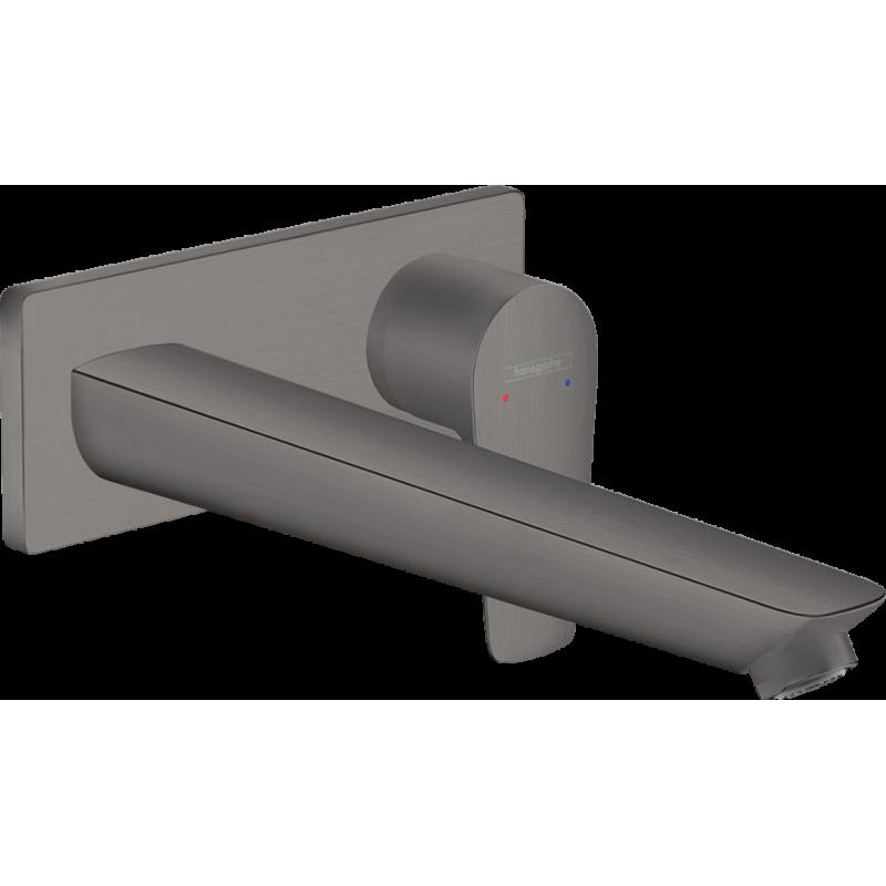 Змішувач Talis E для раковини зі стіни прихованого монтажу 225 мм Brushed Black Chrome (71734340)