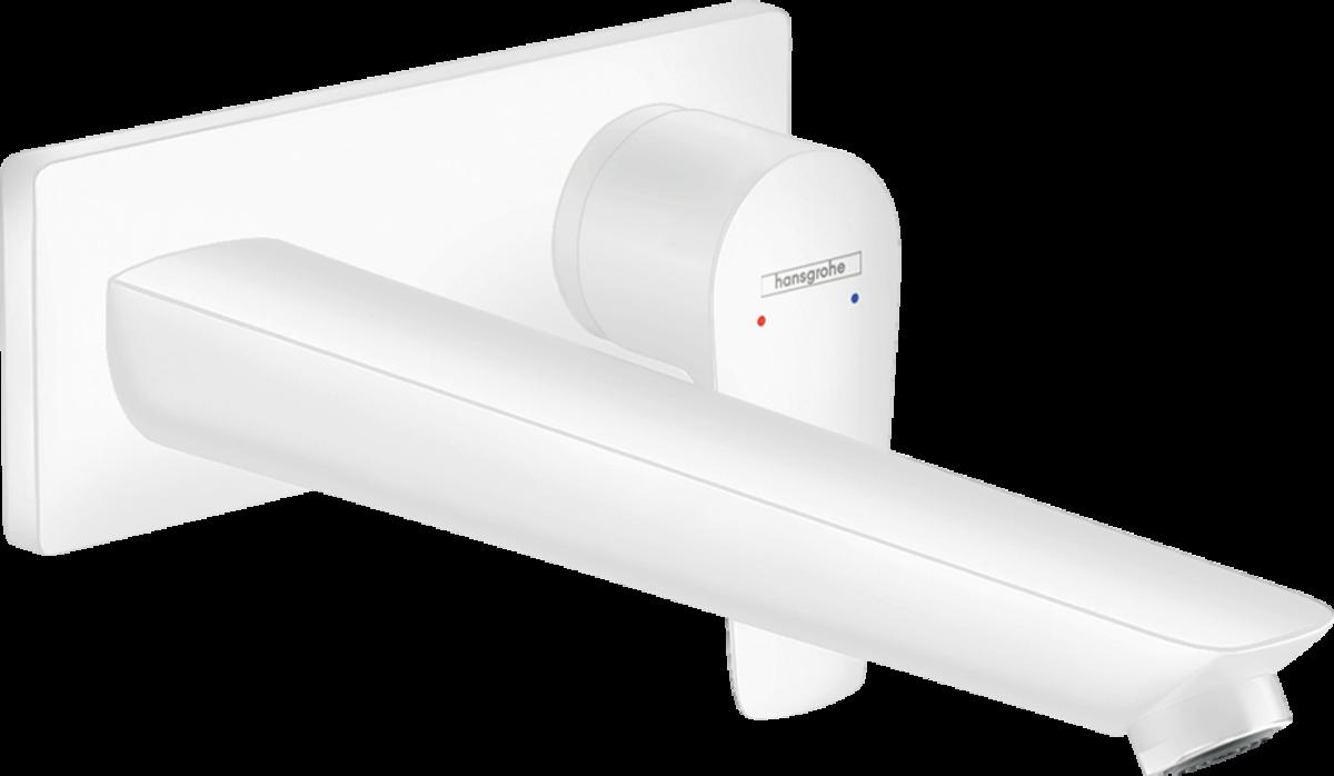 Змішувач Talis E для раковини зі стіни прихованого монтажу, 225 мм / Matt White (71734700)