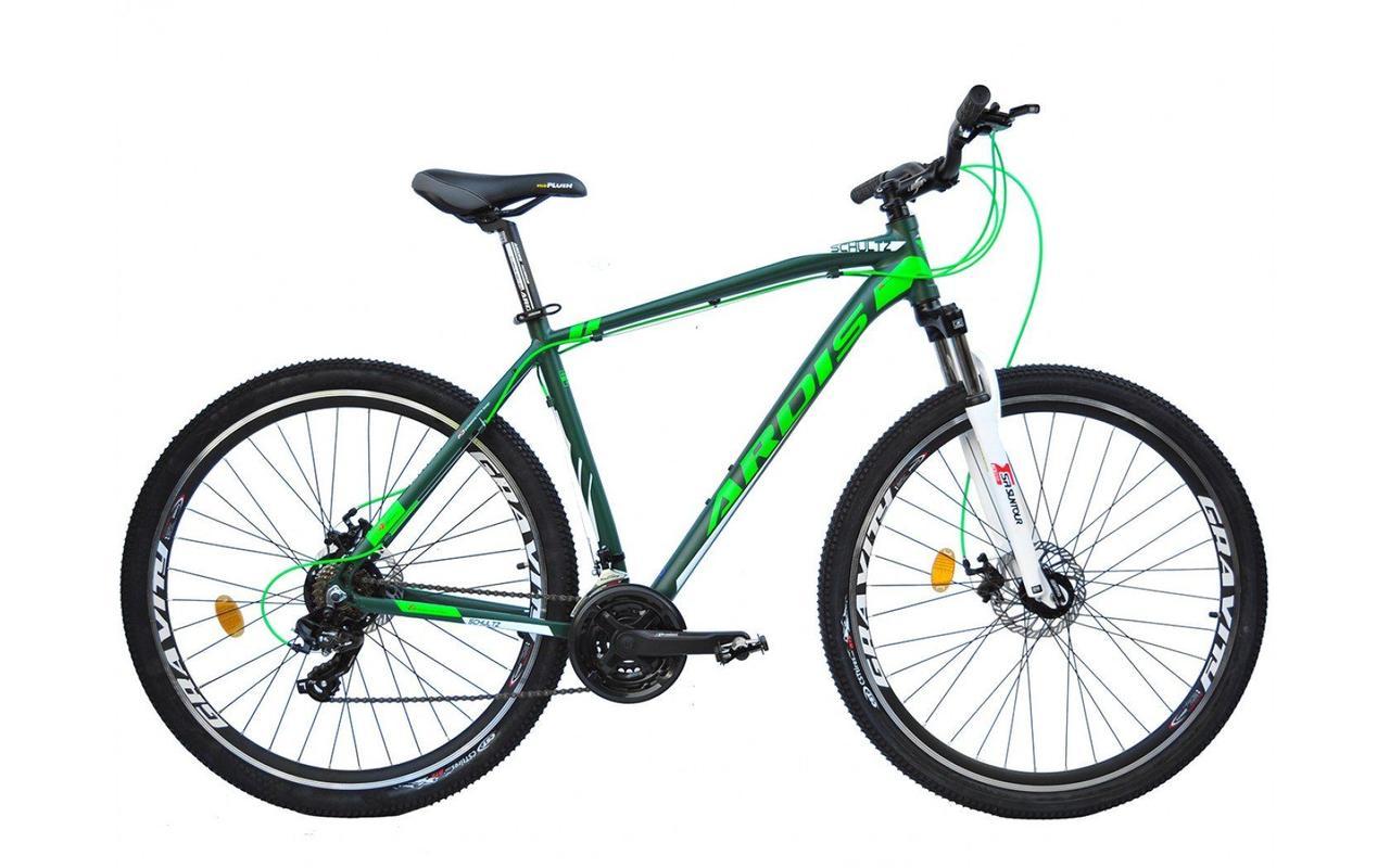 """Горный велосипед Ardis Schultz 26"""" алюминиевый с дисковыми тормозами, Зеленый"""