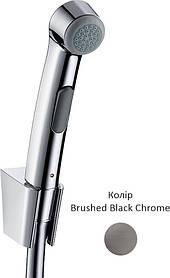 Гігієнічний душ зі шлангом 1.2 м та тримачем Brushed Black Chrome (32129340)