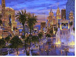 """Картина по номерам """"Вечер в Вегасе"""" 40Х50см Babylon"""