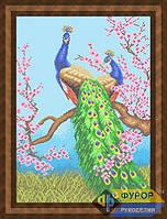 Схема для вышивки бисером - Павлины на ветке сакуры, Арт. ЖБп2-002