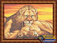 Схема для вышивки бисером - Пара львов, Арт. ЖБп2-6
