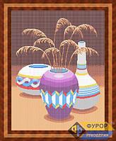 Схема для вышивки бисером - Натюрморт из трех ваз, Арт. НБп2-1