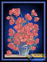 Схема для вышивки бисером - Полевые маки в вазе, Арт. НБч2-004-2