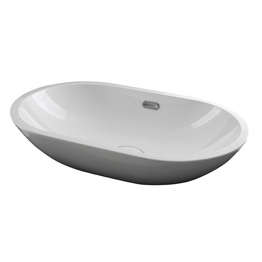 FORMA Умивальник на стільницю білий 59.5x36 см з переливом та керамічною кришкою (100214320)