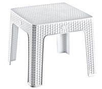 Столик для кофе под ротанг Irak Plastik 45x45 белый